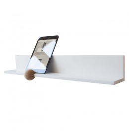 STRAIGHTS iPad shelf in Glacier White